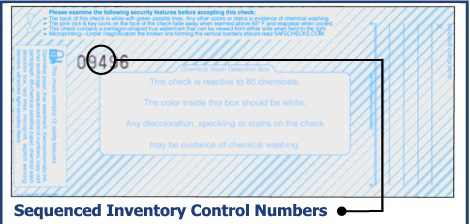 Sequenced Inventory Control Numbers