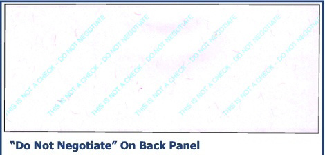 Do Not Negotiate on Back Panel